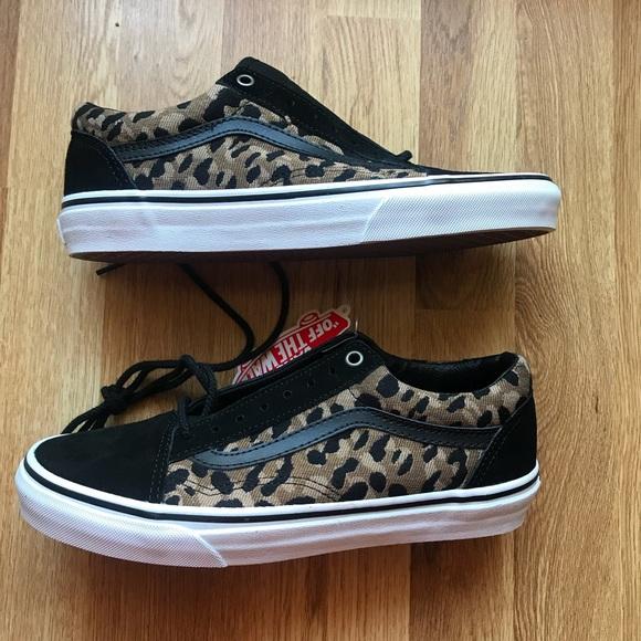 332b0f81908 Vans Old Skool Italian Weave Leopard Print Shoes